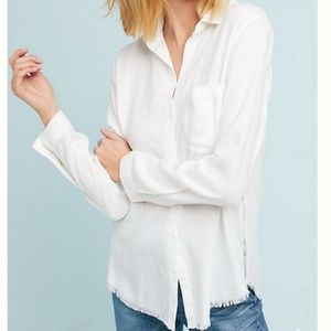 Cloth & Stone | Linen Button Down With Frayed Hem